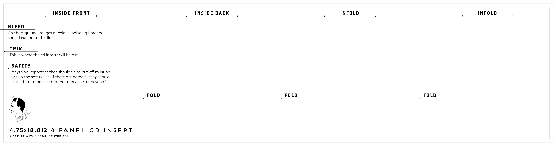 Resource Templates Fireball Printing - Cd insert template